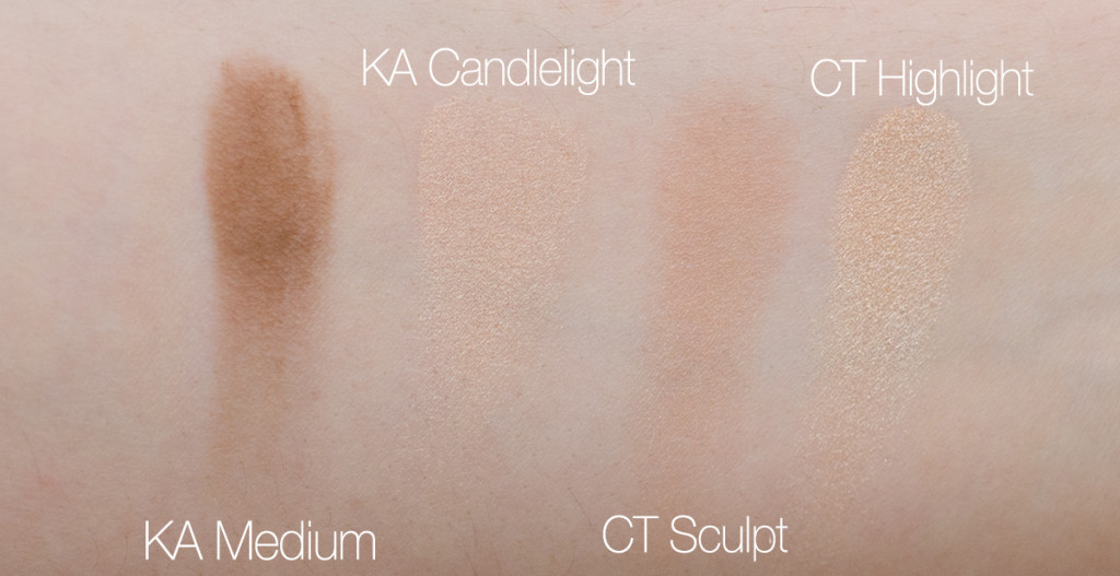 charlotte tibluber bronze and glow vs. kevyn aucoin swatches