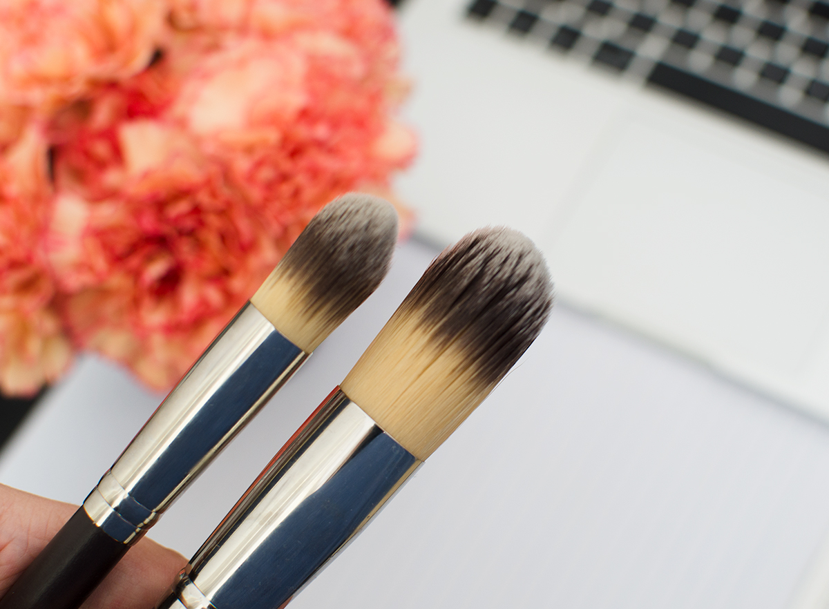 Louise Young Mini Super Foundation Brush LY48 vs. LY24