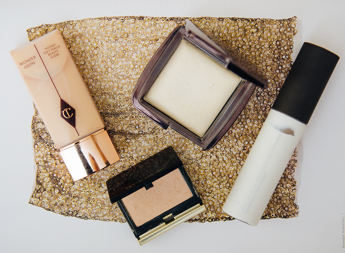 Charlotte Tilbury Wonderglow, Becca Pearl, Kevyn Aucoin Candle light, Hourglass Diffused Light
